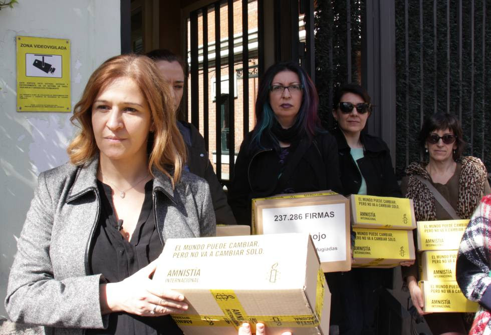 Anna Neistat durante su visita a Madrid.