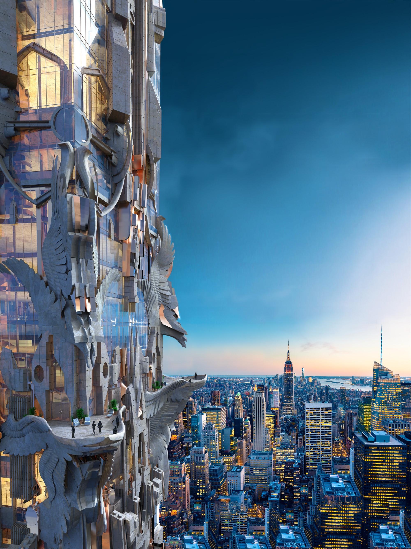 Mark Foster Gage's Manhattan Skyscraper Takes Gothic ...