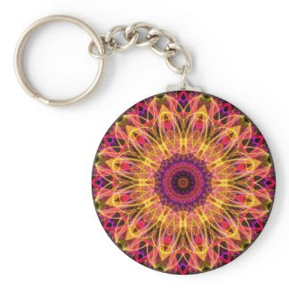 Gemstone Dream kaleidoscope Keychains