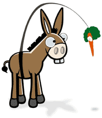 animals - Does the carrot on a stick method work on a mule