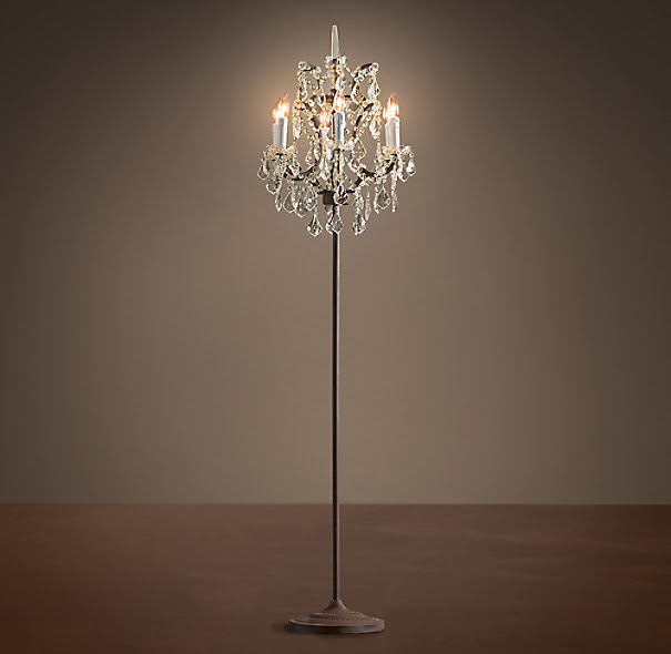 19th C. Rococo Iron & Crystal Floor Lamp | Floor | Restoration ...