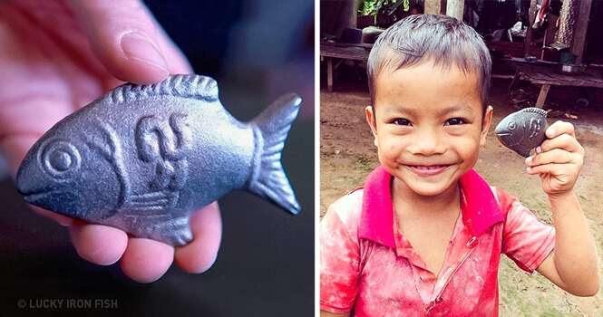 Médico canadense inventa peixe de ferro para salvar pessoas da anemia
