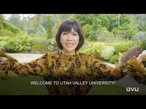 President Astric Tuminez Welcomes the World, Utah Valley University