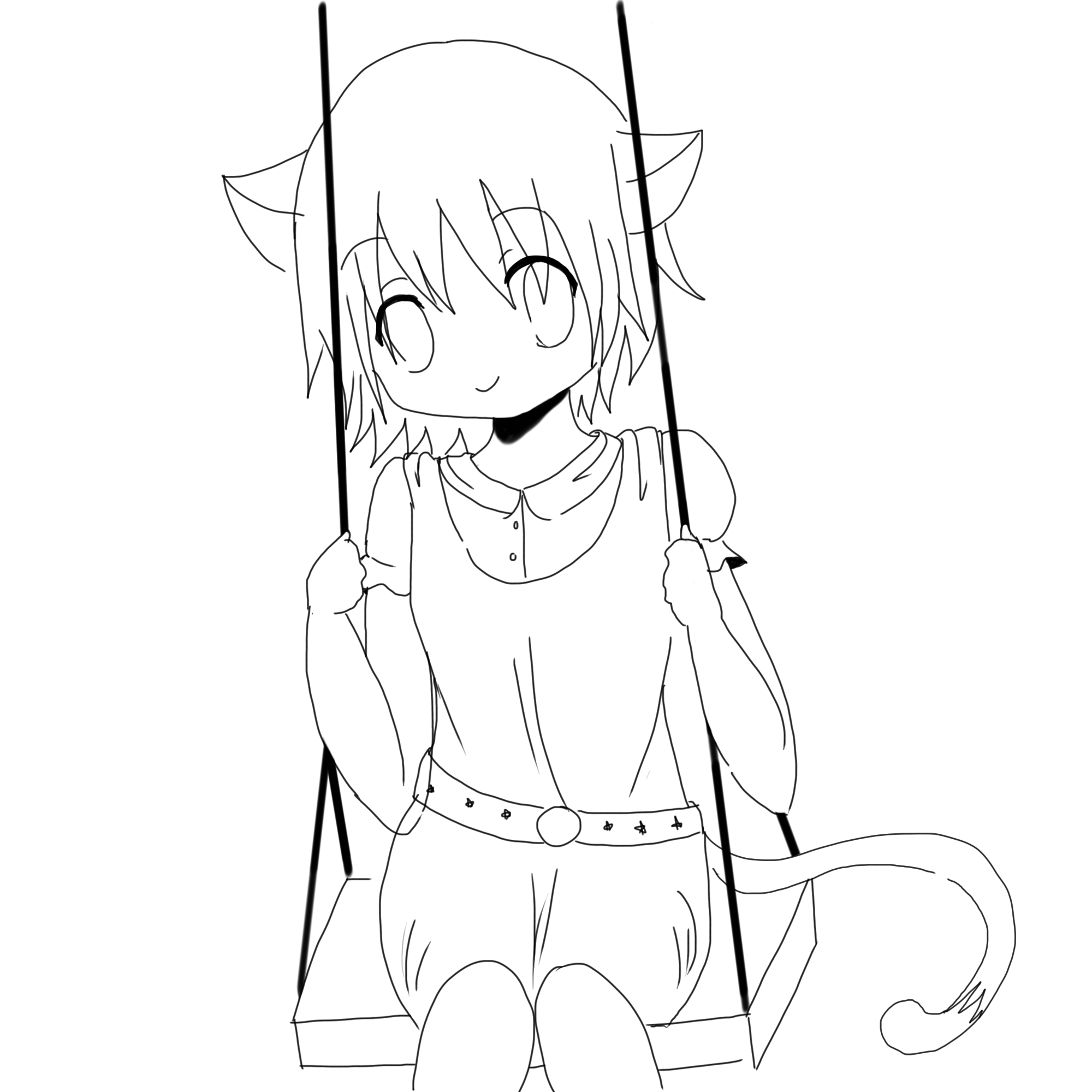 92 Coloring Pages Of Anime Cats  Images