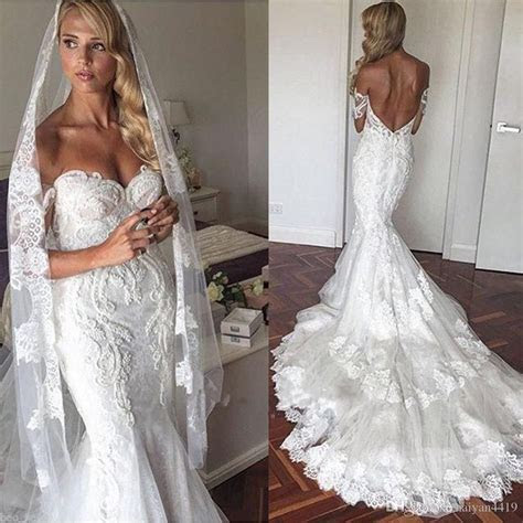 Mermaid Wedding Dresses 2017 New Sexy Off Shoulder Lace
