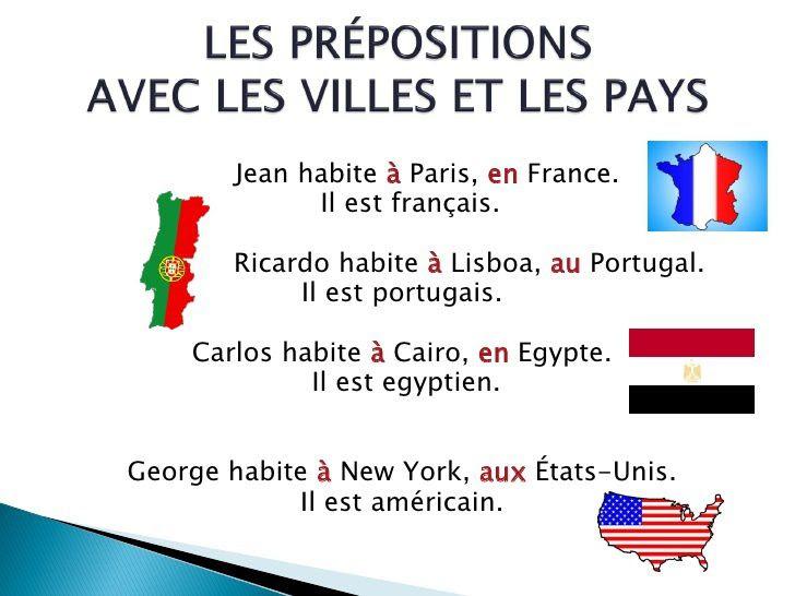Przyimki występujące z miastami i krajami - gramatyka 12 - Francuski przy kawie