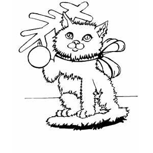 Christmas Cat Coloring Pages at GetColorings.com   Free ...