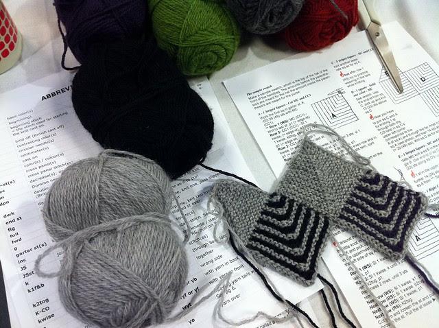 Madrona Domino Knitting