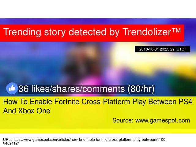 How To Enable Cross Platform Fortnite Xbox One