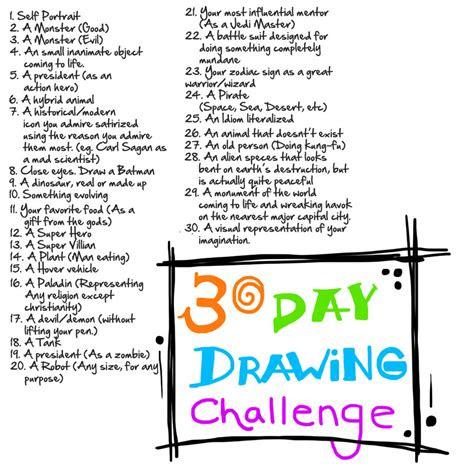 art  stuff  drawing challenge