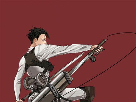 desktop wallpaper attack  titan levi ackerman anime