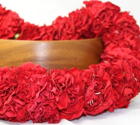 Carnation Leis Fresh Double Lei With Our Aloha