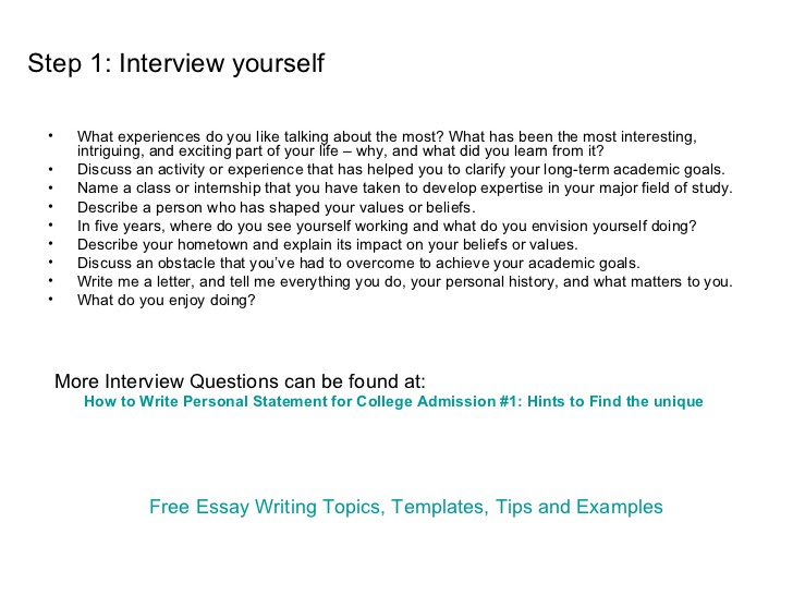 how to write personal essays online