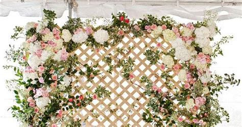 Dreamy floral lattice backdrop by Bows   Arrows for the