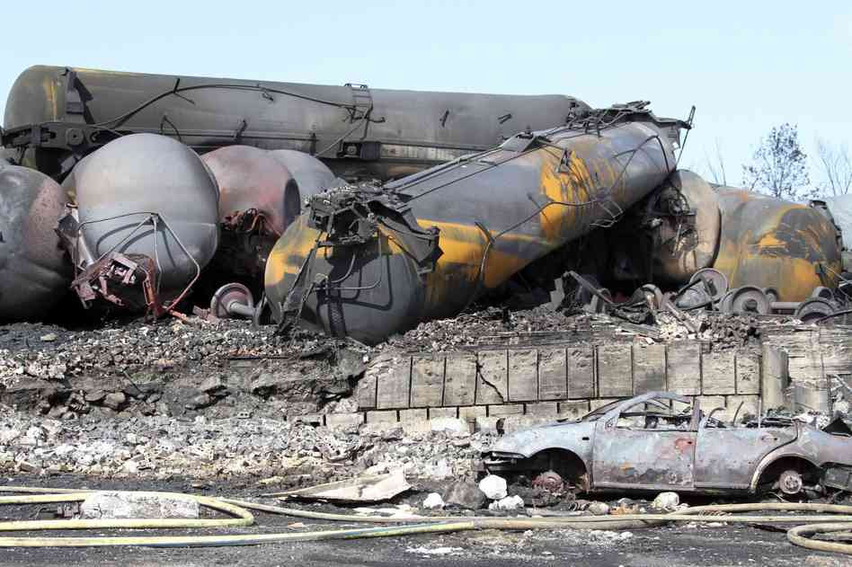 Bomb trains carry Bakken crude from North Dakota through our settlements.