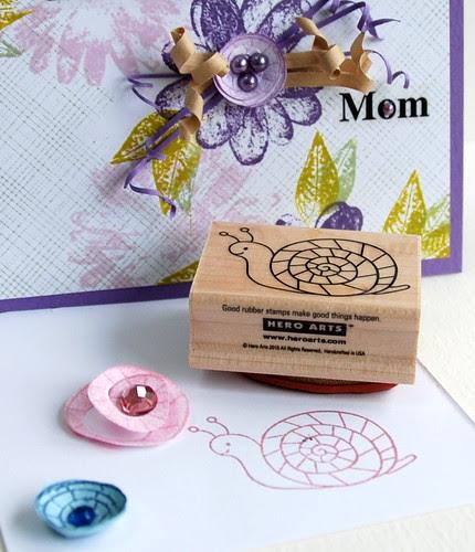 snail stamp for flower center