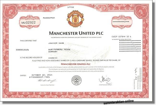 Aktie Manchester United