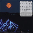 January 2012 desktop calendar