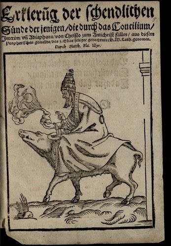 'man riding a pig' Matthias Flacius 1550