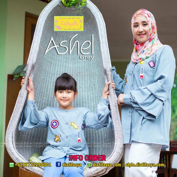 Baju muslim couple ibu dan anak perempuan model 2017 / 2018 Ashel by Tasyari Muslim Brand