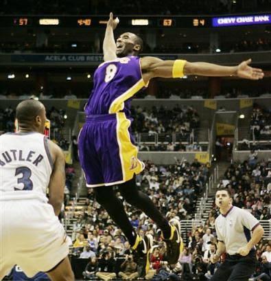 Kobe flying
