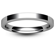 Flat Court Chamfered Edge   2mm Platinum Wedding Ring