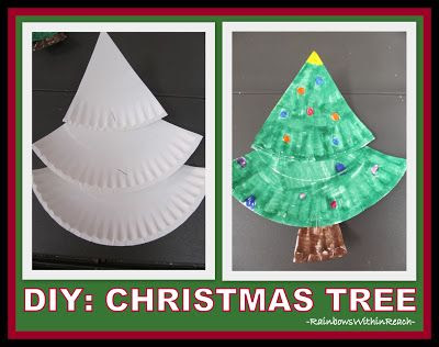 Simple Christmas Tree from a Paper Plate at RainbowsWithinReach