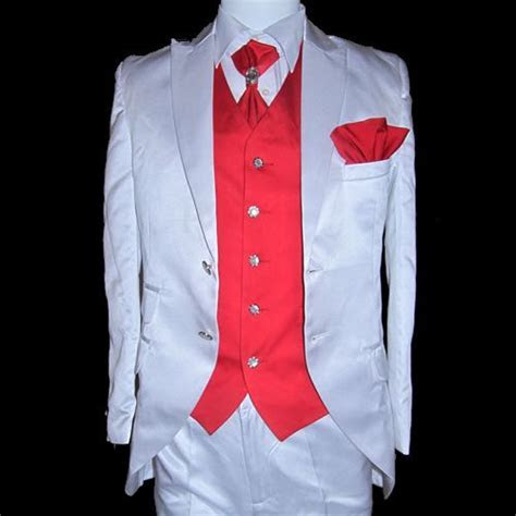 Red Prom Suits   White Red Wedding Formal Dress Suits