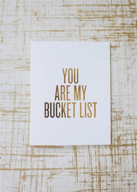 Letterpress Bucket List Greeting Card