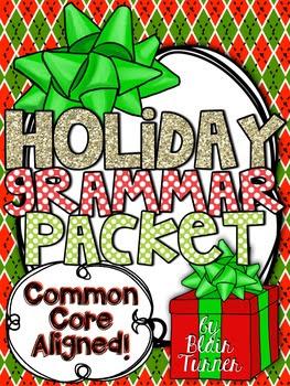 Winter Holidays Grammar Packet