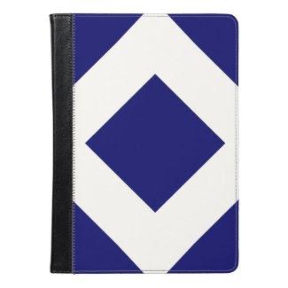 Dark Blue and White Diamond Pattern
