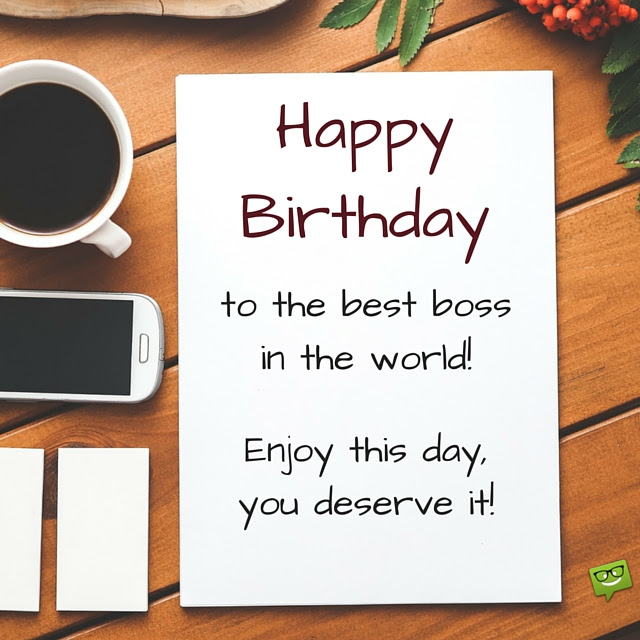 Best Happy Birthday Wishes For Boss