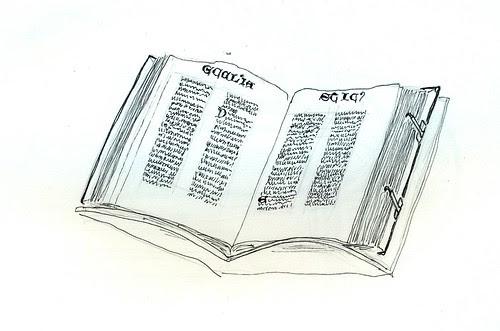 Gutenberg Bible @ Library of Congress (Sketch Crawl 30)