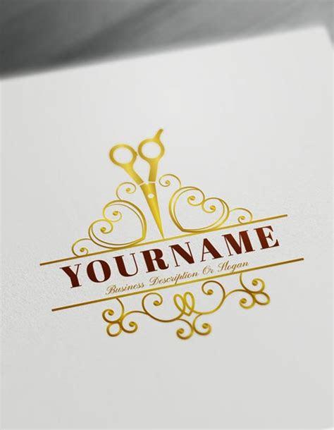 cool logo maker hair salon logo design template barber