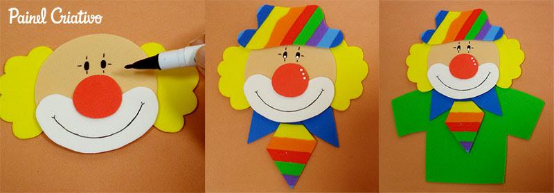 passo a passo lembrancinha dia das criancas palhacinho eva porta guloseimas escola artesanato painel criativo 5