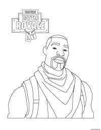 Coloriage Mini Fortnite Lama Skin Dessin