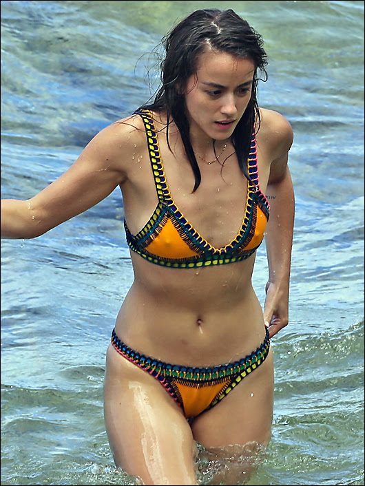 chloe bennett nice hard nipples in a bikini