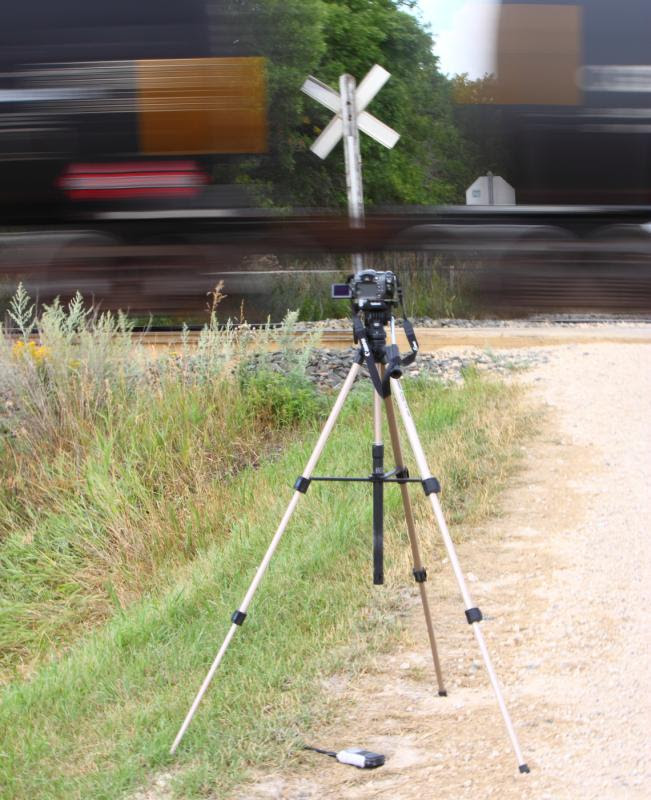 Video camera and train