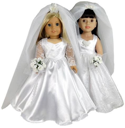 18 Inch American Girl Doll Clothes Patterns Wedding Dress