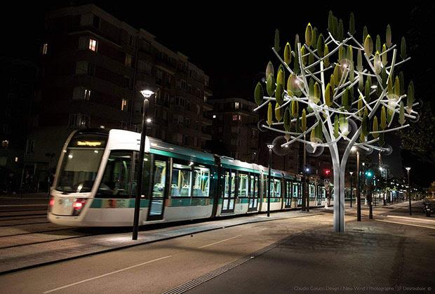 ต้นไม้ผลิตกระแสไฟฟ้า ปารีส