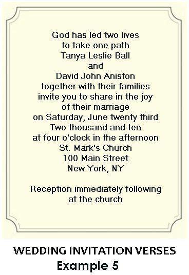 Christian Wedding Invitation Wording   Wedding