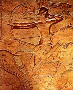 Ramses II at Kadesh.jpg