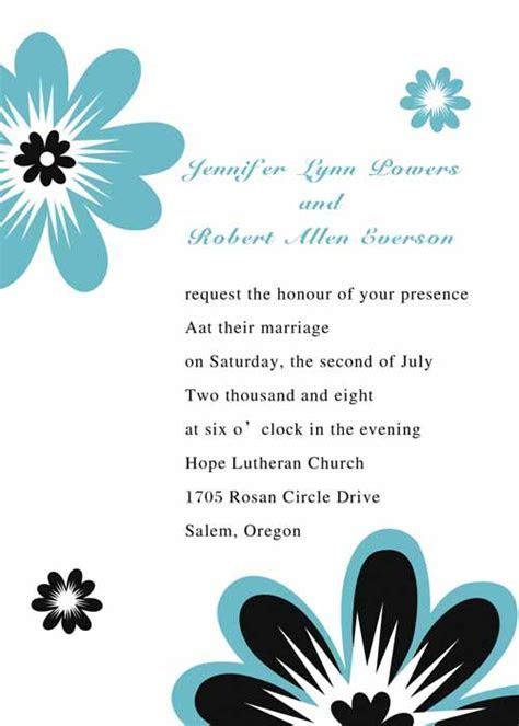 Sample Wording   Summer Wedding
