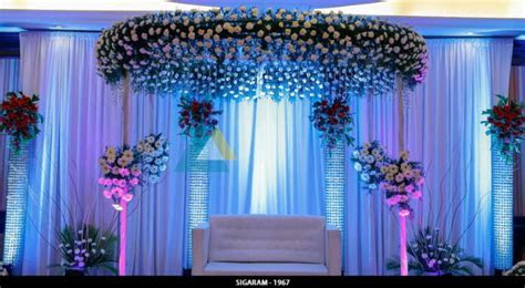 Wedding Reception Stage Decoration done at The Residency
