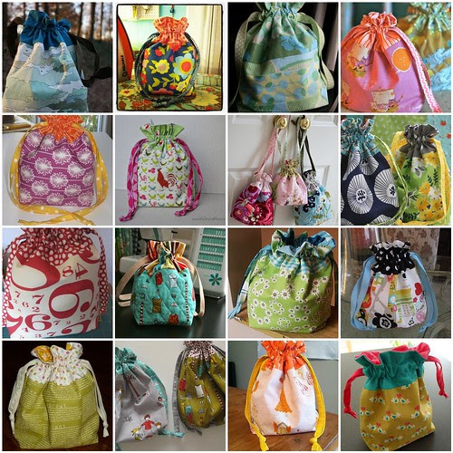 In Color Order  Lined Drawstring Bag Pattern 4890717015b0