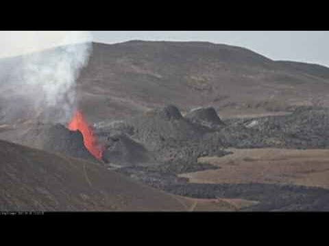 Live from the volcano in Meradalir, Iceland