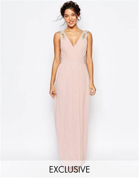 TFNC   TFNC WEDDING Wrap Embellished Maxi Dress at ASOS
