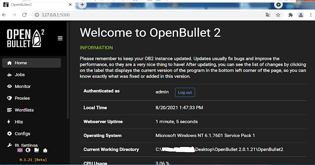 New OpenBullet 2.0.1.21 (Release)