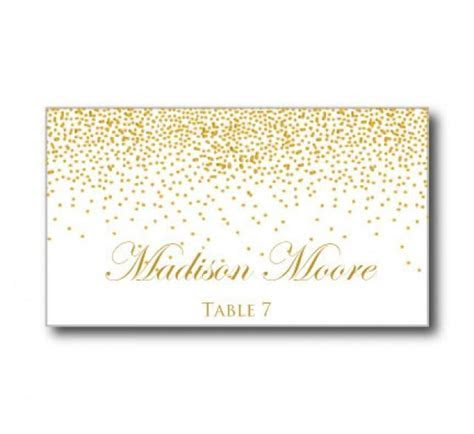 Printable Wedding Place Cards   Gold Wedding   Gold