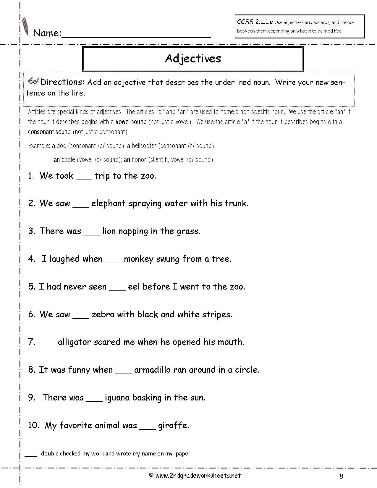33 English Worksheet For Grade 2 Worksheet Project List